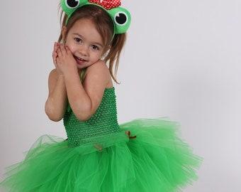 Green tutu dress, tutu frog, 1 year to 4 years, birthday, photos, Carnival, theatre, Princess, fairy tales