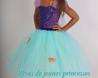 Princess tutu, dress, mermaid costume dress