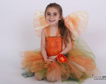 Amaryllis flower tutu dress theatre performance. Girl/'s birthday gift Children/'s costume carnival costume felt crown