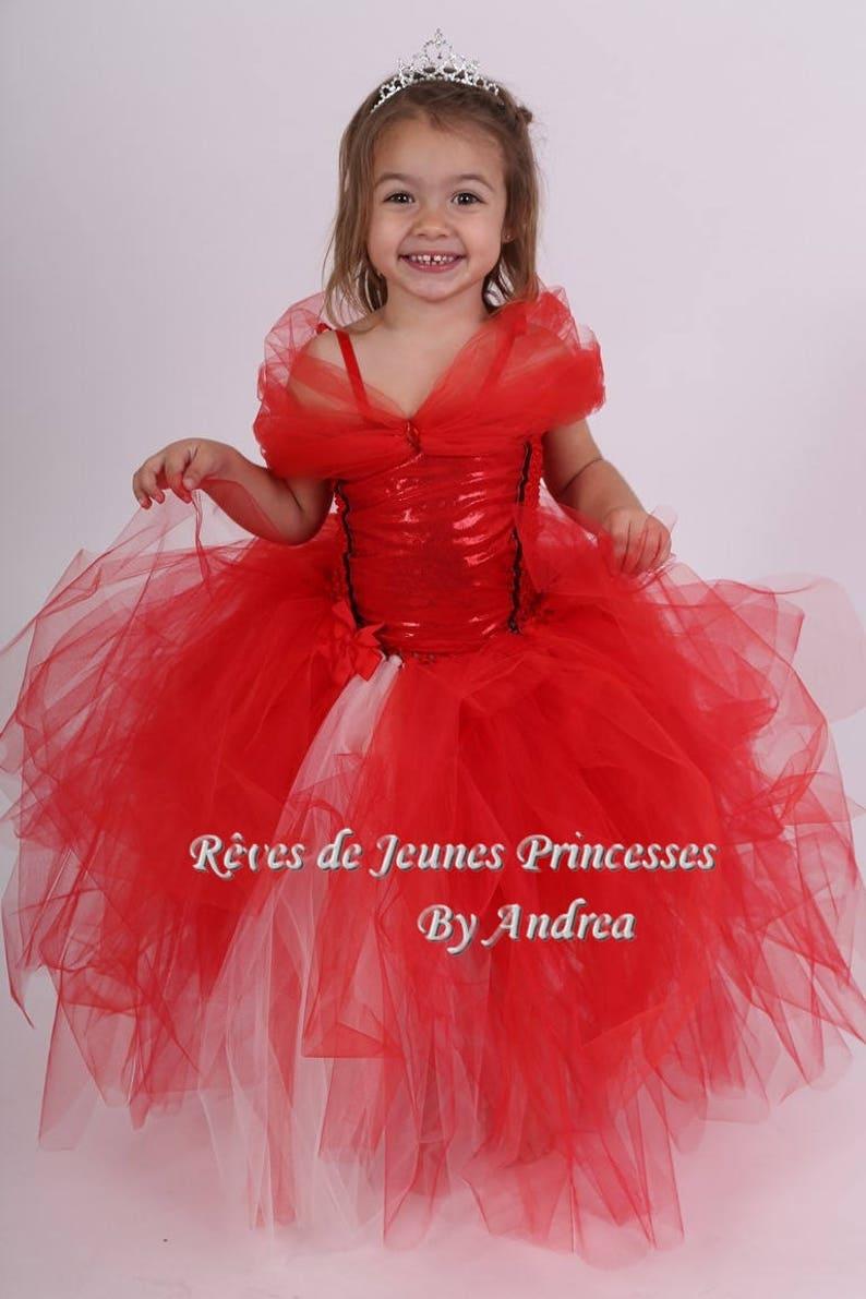 456461c577a06 Robe tutu tutu de princesse tulle rouge Princesse Elena
