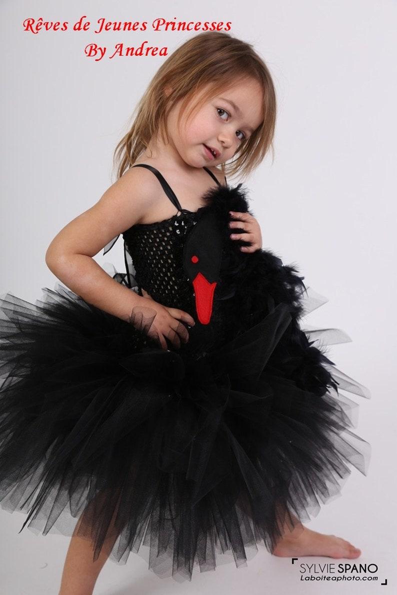 c1575ab8f Tutu dress Black Swan costume kids tulle dress theater