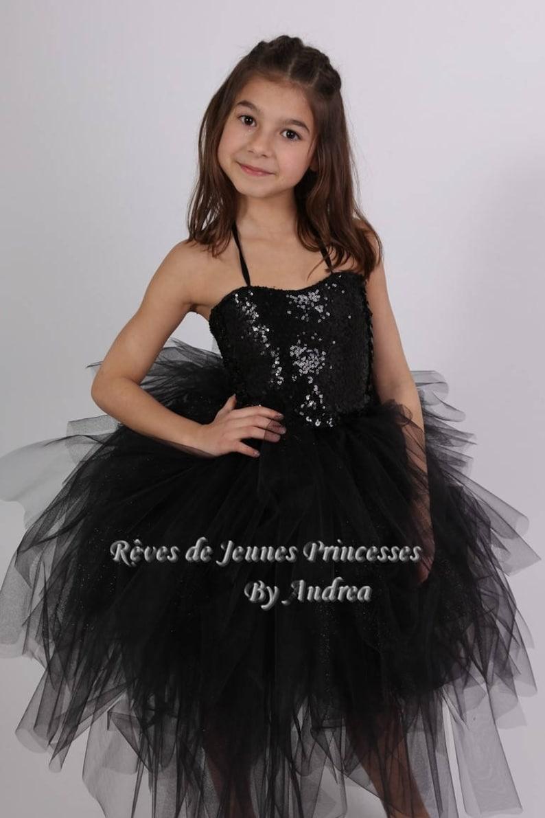 34e02505ab79a Robe tuturobe de gala enfant tutu de princesse en tulle noir