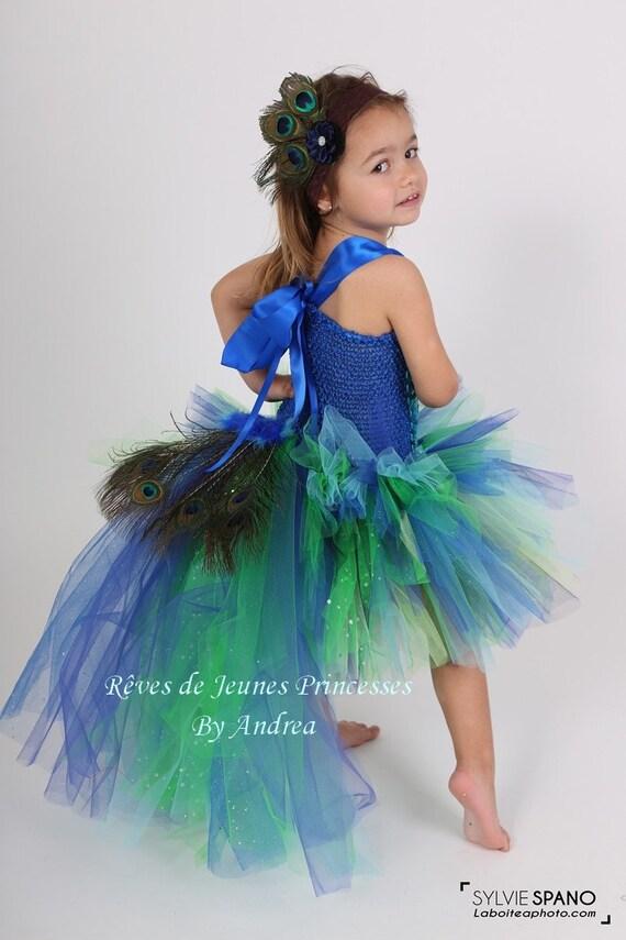 selezione migliore nuovi stili prevalente Costume di pavone, abito di tutu di Halloween per i bambini dai 1 agli 8  anni: regalo di compleanno, regalo di Natale, carnevale, Halloween,  servizio ...