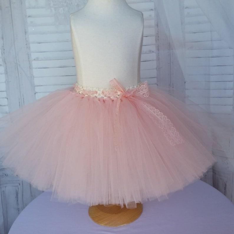 d05fb9b48 Falda pequeña de tutú para niños, bebés, adultos, rosa pastel, otros  colores a elegir, tul suave, falda ceremonial, ninos de honor, baile.