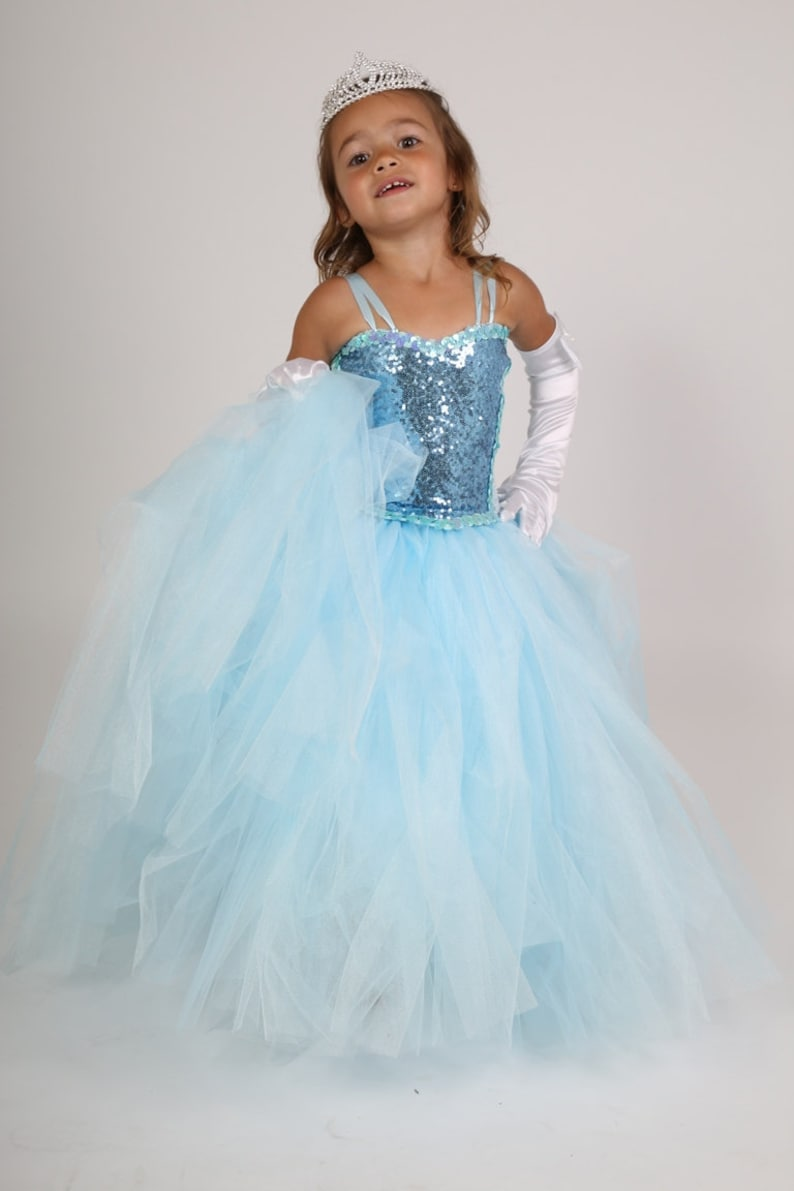 db4bf14790dae Robe de cérémonie robe de princesse bleu pour mariage