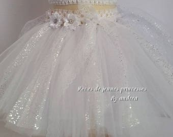 Tutu skirt in soft, and white tulle skirt ceremony, parties