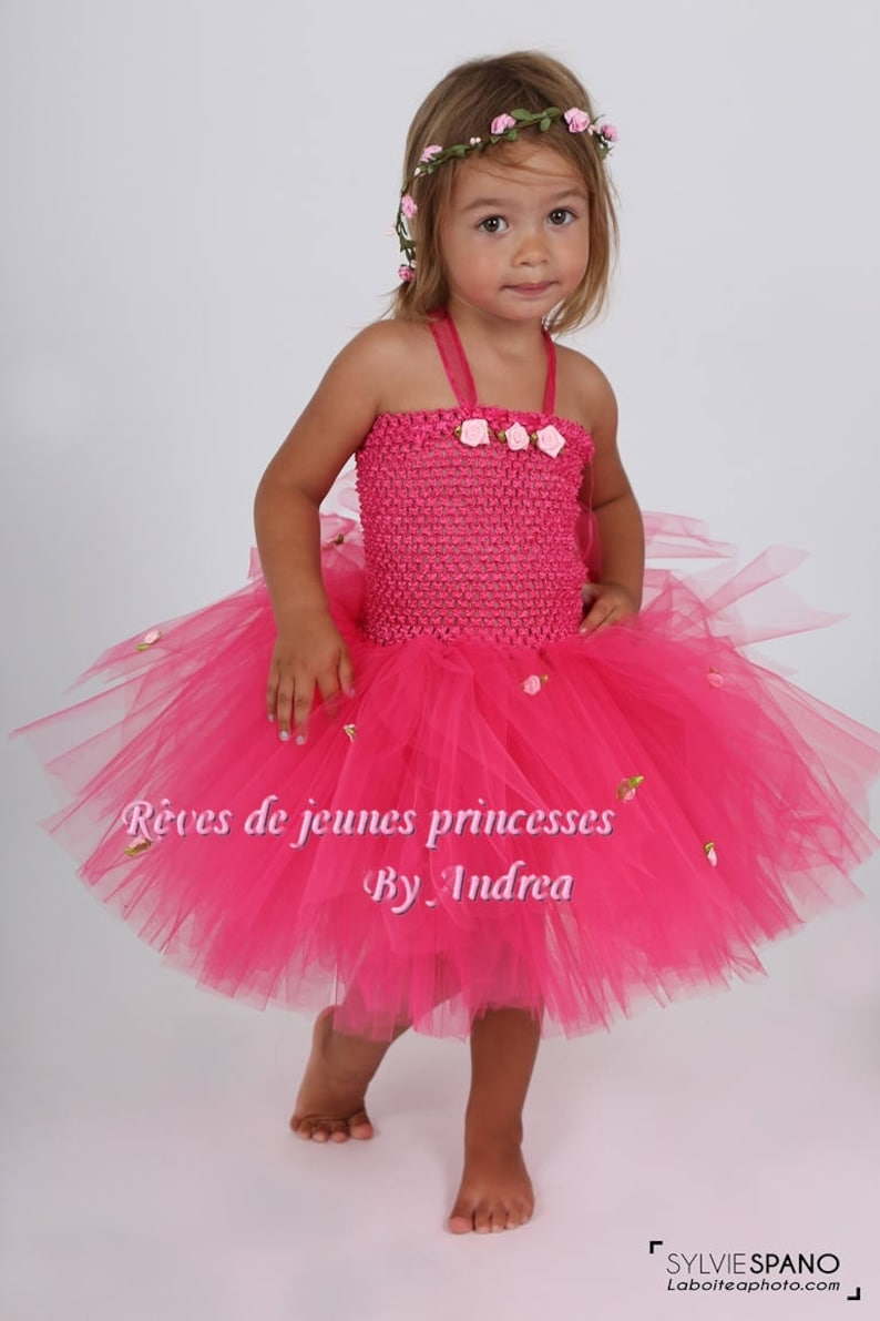 Tutu Baby Fucshia Princess Costume Dress Birthday Gift