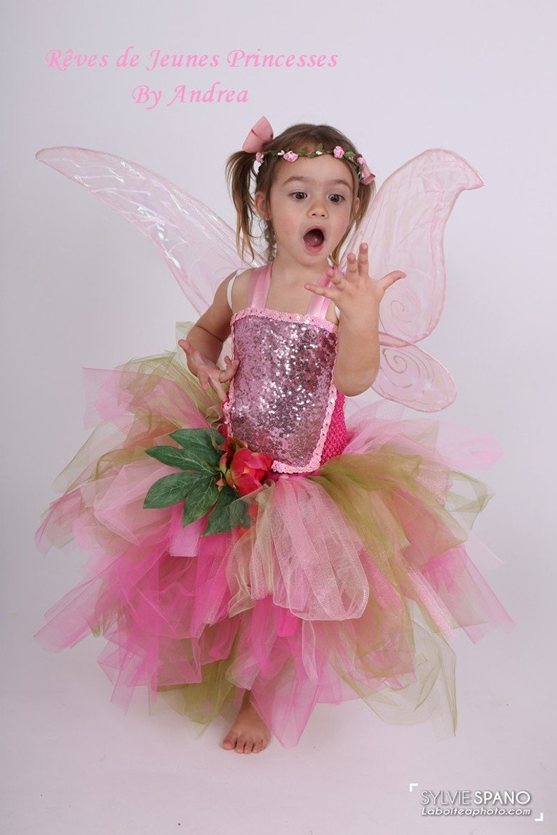 537eb77e4a0 Costume enfant de fée des bois robe en tulle différents tons
