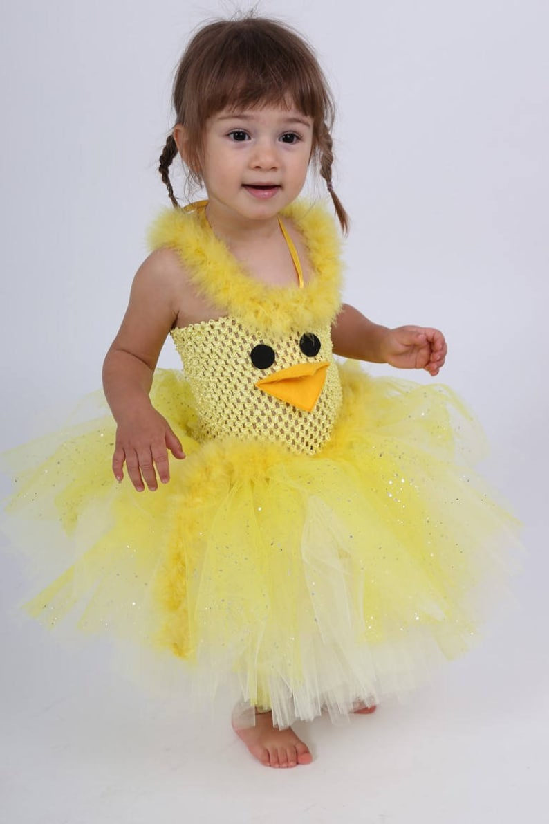 2c7b6f872 Tutu dress baby costume little chick made of soft tulle and