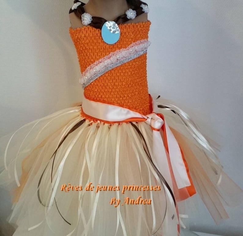 c726bbb5002 Robe tutu vaiana robe de princesse déguisement fille robe