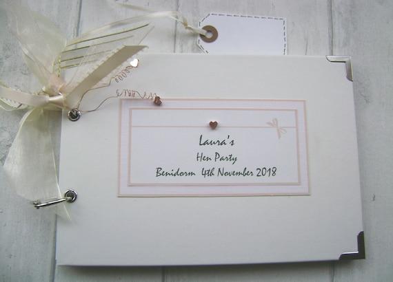 Personalised Hen Night Photo Album//Scrapbook//Memory Gift With Box