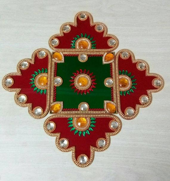 Wedding Return Gift Wedding Gift Ideas Swastik Rangoli Wedding Decor Mandala Kolam Reception Table Center Piece Floor Rangoli 5 Pieces