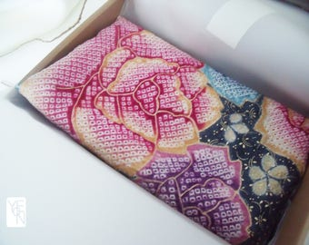Real kimono silk fabric scarf