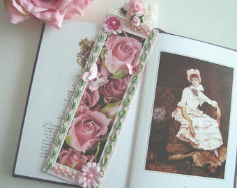 """Great bookmarks of romantic, """"Cascade of Roses"""""""