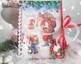 Noël Rétro Horloge murale Décoration  Père Noël en traîneau Acrylglas