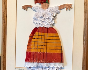 Vintage Henderson/'s Los Angeles Folk Dance Red and Black Lace Peasant Blosue with Ruffles and Puffy Sleeves