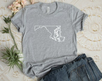 9f17fb82c9 Maryland T-Shirt - T-Shirt - Mens - Women s- Unisex Shirt - Maryland Pride  - Maryland Shirt - Christmas Gift - Birthday Gift