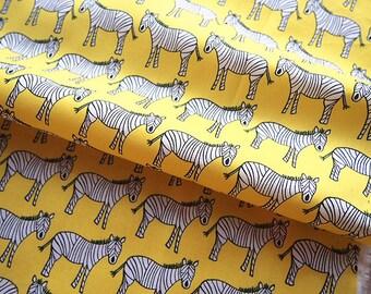 Lemon yellow zibre 150 * 50 cm printed cotton fabric