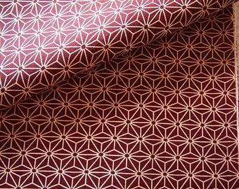 Japanese Ttissu cotton dobby Asanoha red 110 * 50 cm