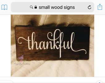 Small hanging wood signs