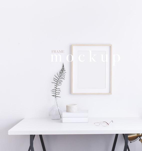 Simple Frame Mock Up Frame For Poster Frame Mockup Room Stock Photography Product Mockup Minimalist Digital Frame Wood Frame Mock Up
