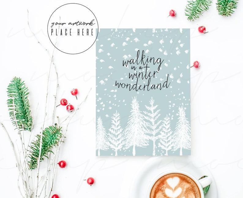 Christmas Card Mock Up Greeting Card Mockup Holiday Mock Up Flatlay Mockup Christmas Stock Photography Styled Stock Photo Invite Mockup