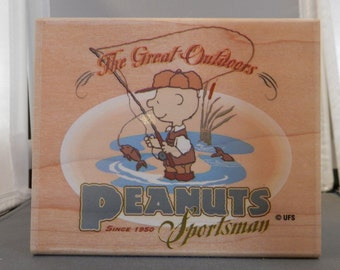 Charlie Brown Fisherman Great for Fathers Day