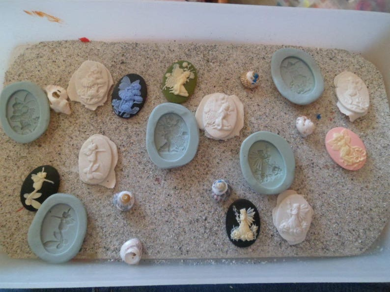silicone molds cameo miniature Elves for Fimo wepam