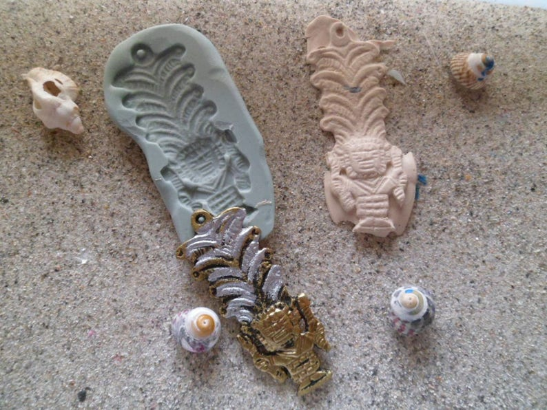 silicone mold statue incamaya azteque for fimo wepam