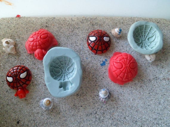 molds silicone spiderman 2 models for wepam polymer resin cast