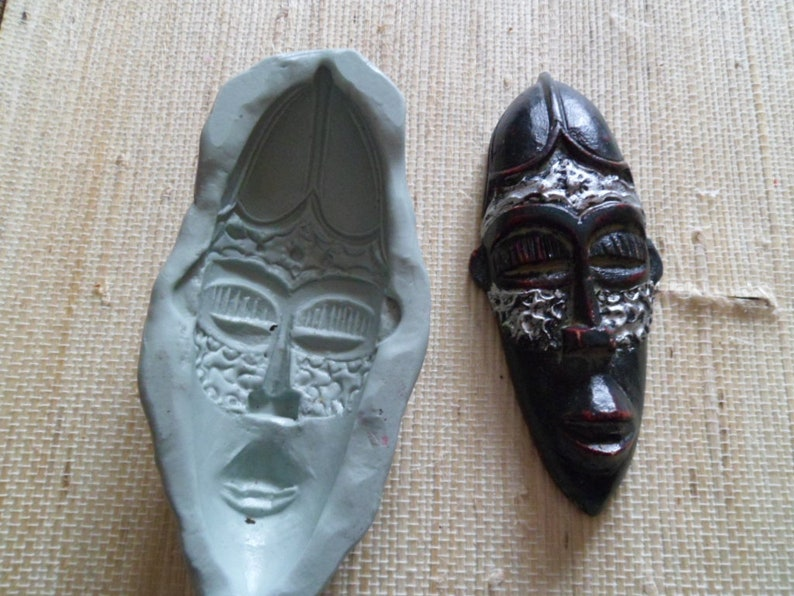 fimo wepam African mask silicone mold