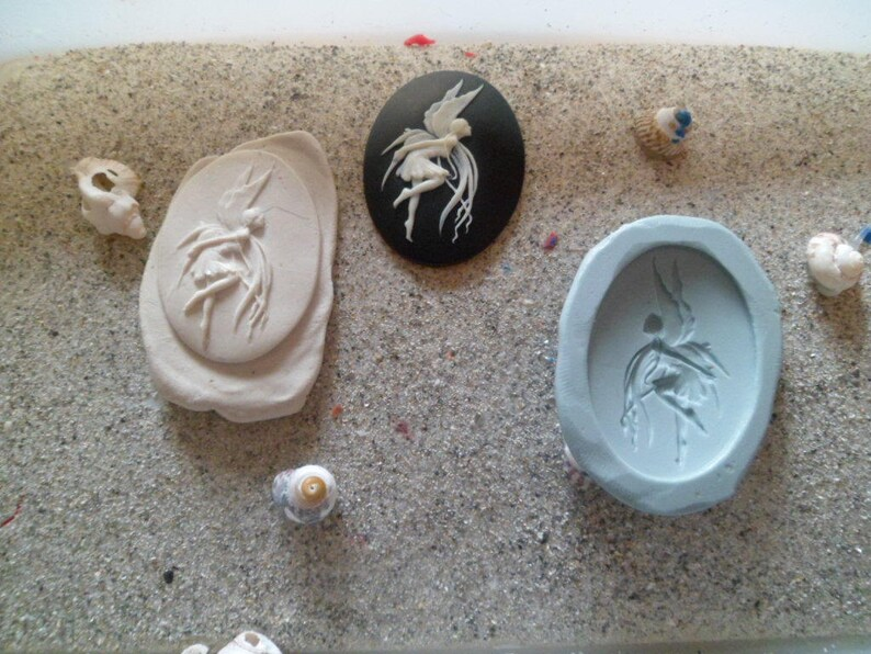 Elf Dancer for plaster wepam polymer resin cameo silicone mold
