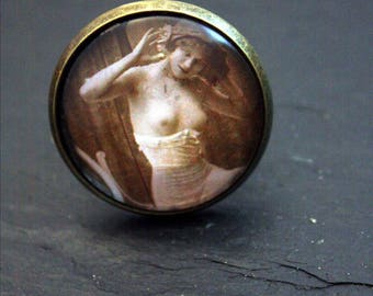 cabochon 25mm glass dome ring