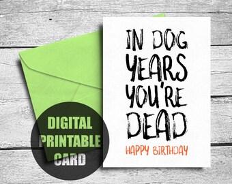 Funny Birthday Card Brother Printable Rude Birthday Card Etsy