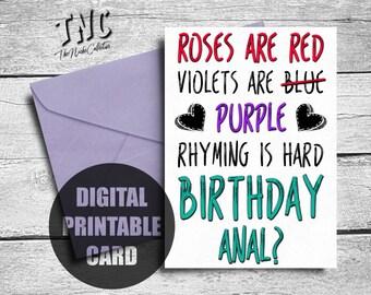 Greeting printable card adult