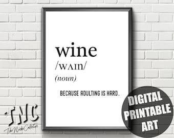 Funny Wine Quote Etsy