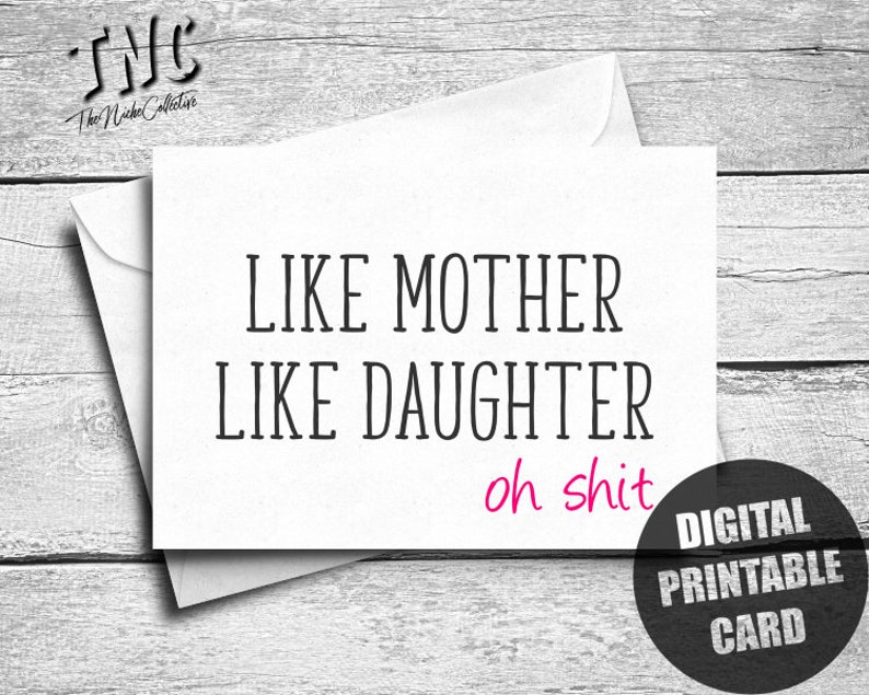 photograph relating to Birthday Cards for Mom From Daughter Printable named Printable Moms Working day Card Versus Daughter, Humorous Birthday Card For Mother, Sarcastic Pleased Moms Working day, Cheeky Reward, Blank, Electronic Obtain
