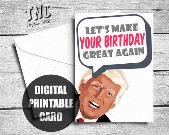Anti Trump Birthday Cards Donald Trump Birthday Cards Funny Political Birthday 3 pack Funny Trump Cards