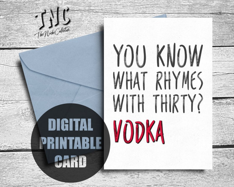 30th Birthday Card Funny Printable 30
