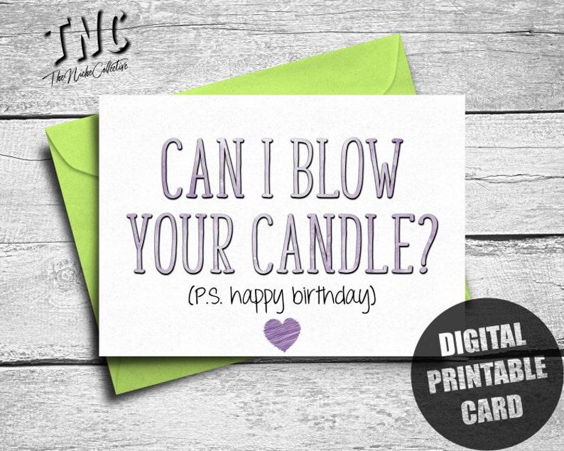 Naughty Birthday Card Boyfriend Printable Dirty