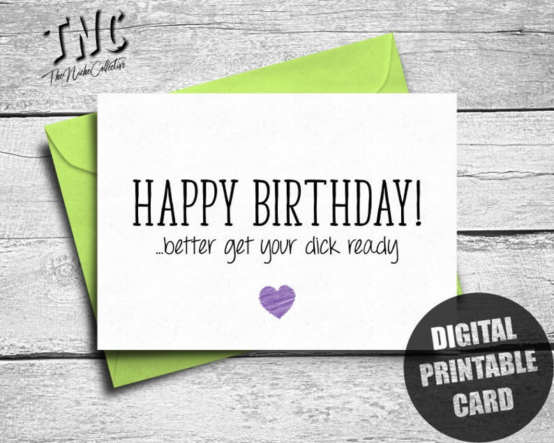 Naughty Birthday Card Boyfriend Printable Dirty
