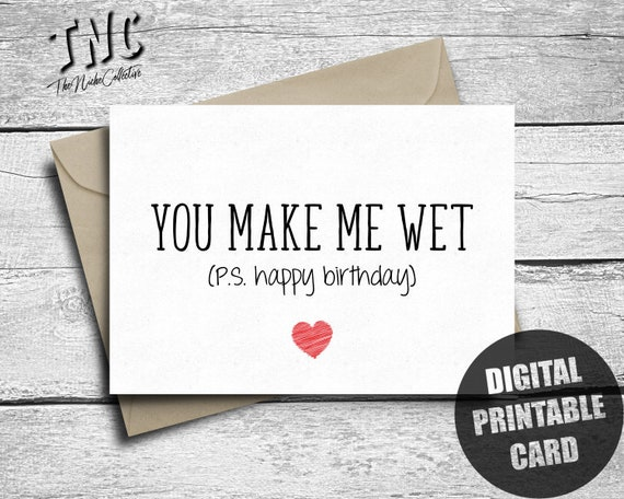 Dirty Birthday Card Printable Naughty Birthday Card Him Etsy