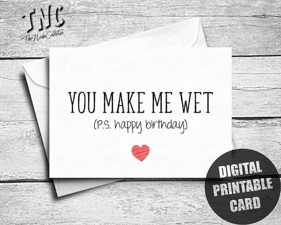 Dirty Birthday Card Printable Naughty Birthday Card Him Etsy