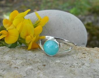 Ring stone amazonite ring silver 950, amazonite gemstone, ring, unique ring, custom gift for woman