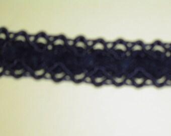 Large Navy blue stripe 1.5 cm for upholstery or garment