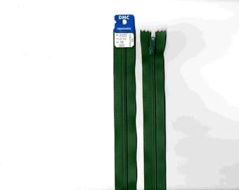 "18cm zipper""plastic"" non detachable green pronounced closure"