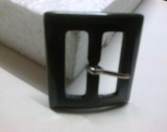 Rectangular gray pronounced 2.7 cm plastic buckle * BO96 *.