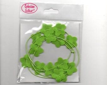 Light green felt flower garland