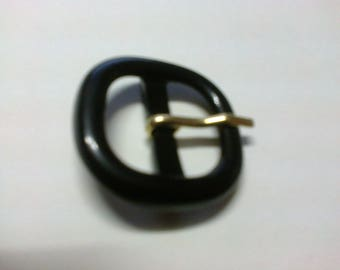 Square 2 cm * BO4 passage black plastic loop