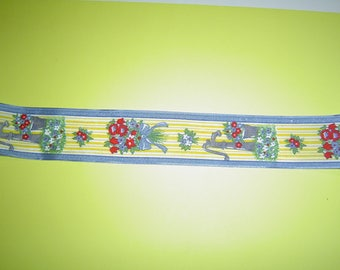 "Yellow decor ""country pretty"" Ribbon 4cm wide"